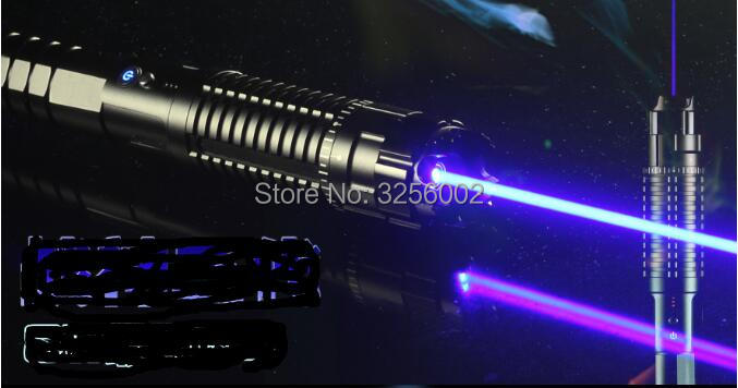 Brûler Laser Pointeurs Pour Vente 450nm 1000000 mw Bleu Pointeur Laser De Découpe Laser Pointeur Bois, Cigarette ALLUMÉE Boîte En Caoutchouc pointeur