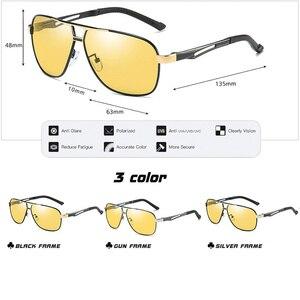 Image 5 - Lioumo marca photochromic óculos de sol polarizados homem óculos de sol dia & noite visão feminina óculos de condução oculos zonnebril mannen