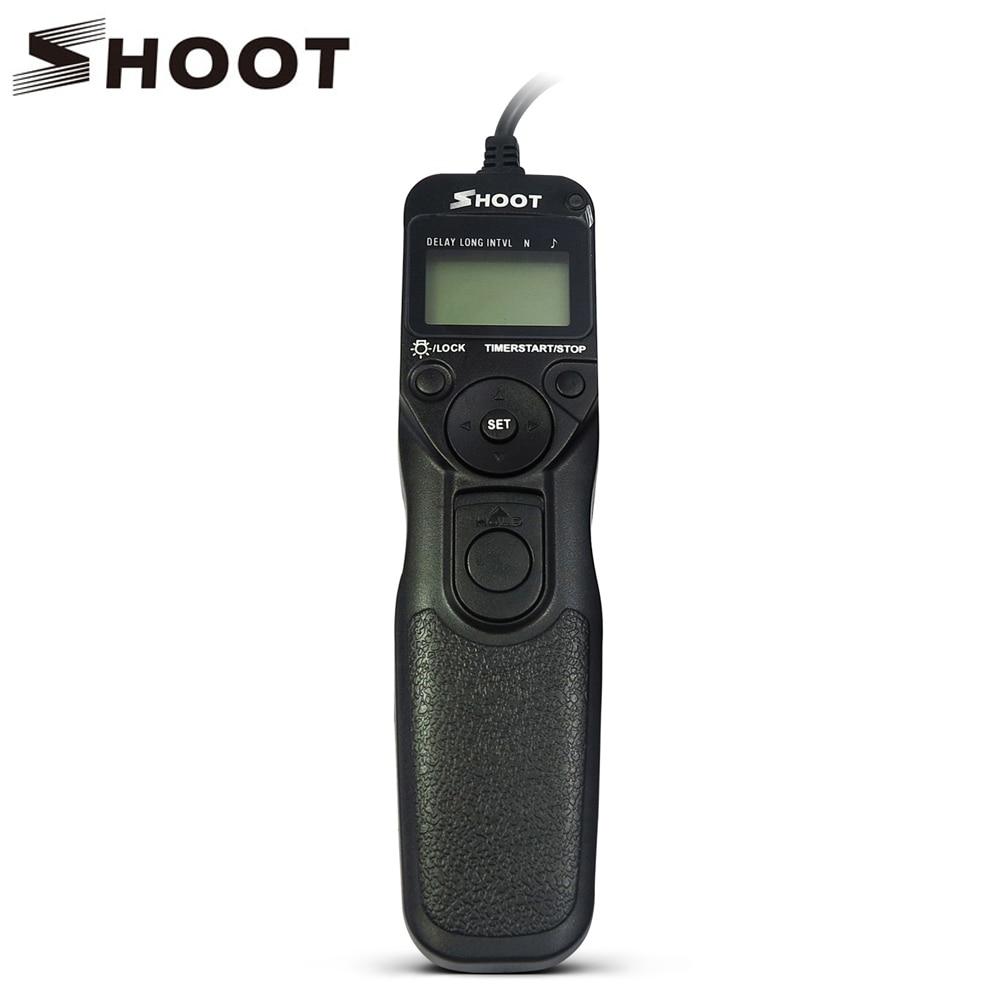 SHOOT RR-90 LCD Timer Remote Shutter Release for Fuji Fujifilm X-E2 Finepix S1 Digital Camera Accessories