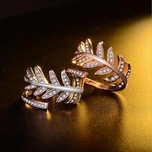 Женское кольцо с фианитом регулируемое цвета розового золота