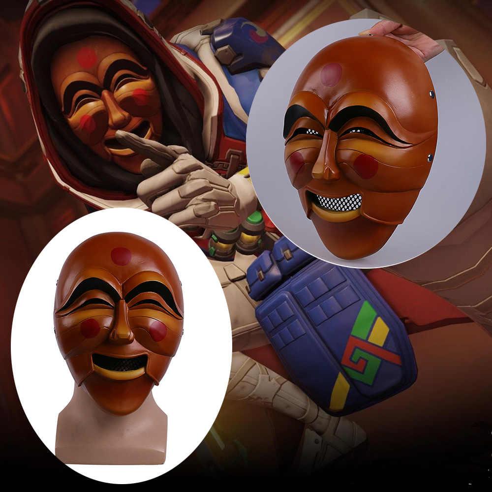 Cos Sıcak Oyun DÜŞÜK Maskeleri Cosplay Anna Yeni Cilt Maskesi Reçine Yetişkin Kask Cadılar Bayramı Partisi Prop