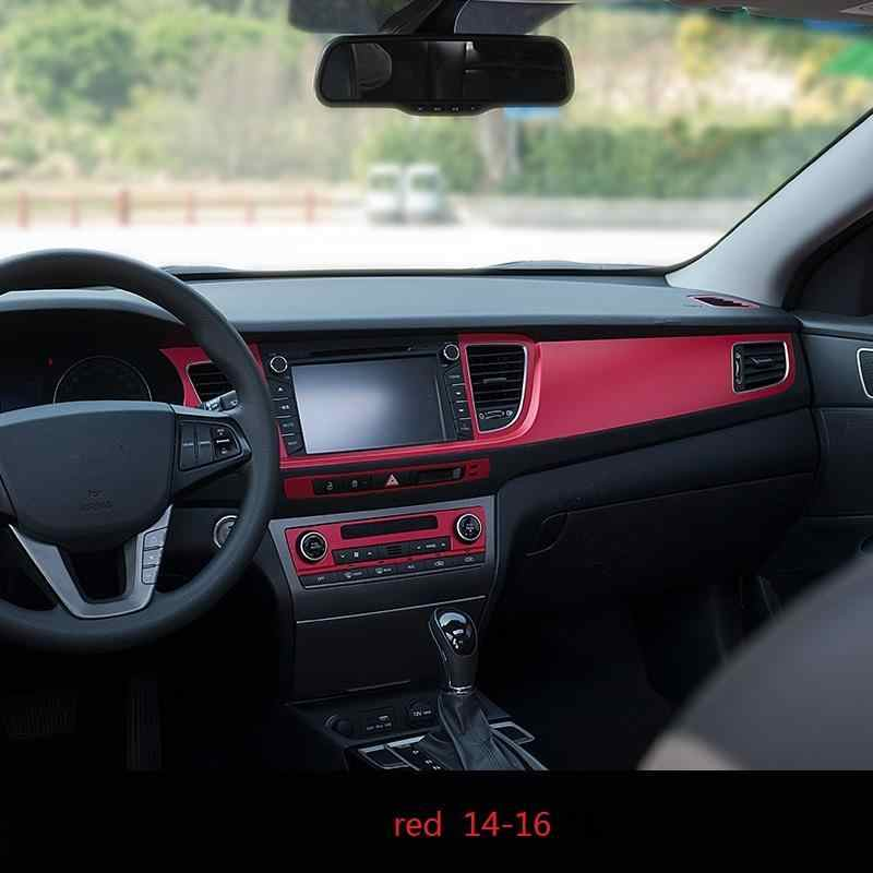 Auto Control System Dashboard Airconditioner Auto Chroom Decoratieve Auto Styling Covers 14 15 16 17 VOOR Hyundai Mistra