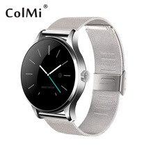 ColMi K88H Smartwatch Bluetooth Reloj Elegante Clásico Metal Health Monitor de Ritmo Cardíaco Para Android IOS Teléfono Reloj de La Cámara Remota