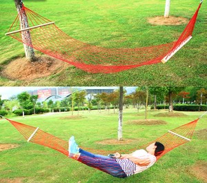 Image 5 - Outdoor camping przenośny hamak jednoosobowa siatka lina nylonowa huśtawka kryty dziecięcy hamak rekreacyjny