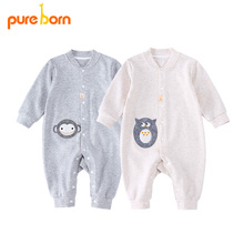 a445a1fa0712 Pureborn Baby Clothes Newborns Infant Rompers Cute Owl Overalls Boys Girls  Clothes Baby Jumpsuits Long Sleeve