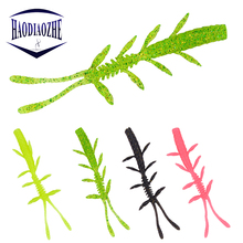 Купить с кэшбэком 12pcs/lot Soft Silicone Artificial Fishing Lures 8.5cm 2g Salt Smell Swim Bait Fishing Shrimp Worm Wobblers Isca Baits Soft Lure