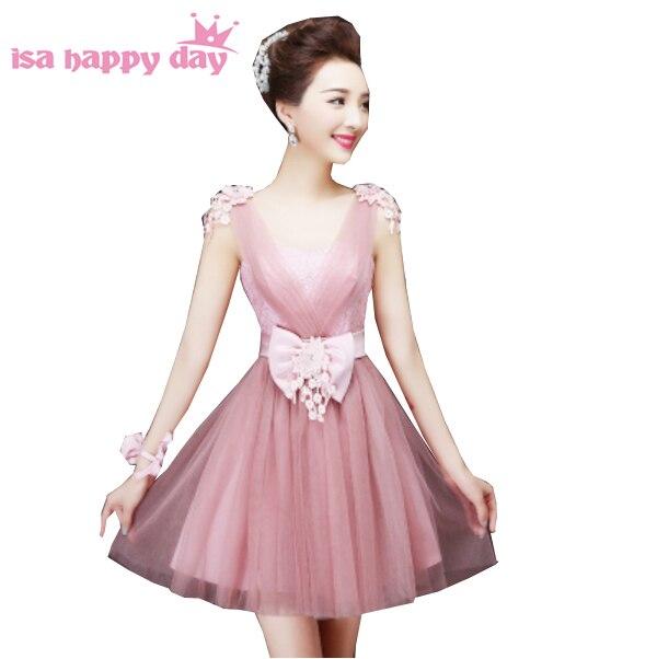 Ragazze blush damigella d onore abito corto in tulle signore di modo  elegante sweetheart partito abiti per la primavera di formato 2 dell abito  di sfera ... 7bae870436fd