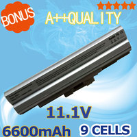 Silver 11 1V 6600mAh Laptop Battery For SONY BPS13 For VAIO SVE VGN FW VPC M