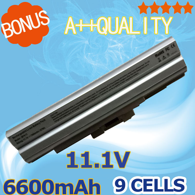 Silver 11.1V 6600mAh Laptop Battery for SONY BPS13 for VAIO SVE VGN-FW VPC-M Series VGP-BPL13 VGP-BPS13 VGP-BPL21 VGP-BPS21 19 5 4 7a laptop charger ac power adapter for sony vaio vgp ac19v28 vgp ac19v48 vgp ac19v37 vgp ac19v35 power supply cord