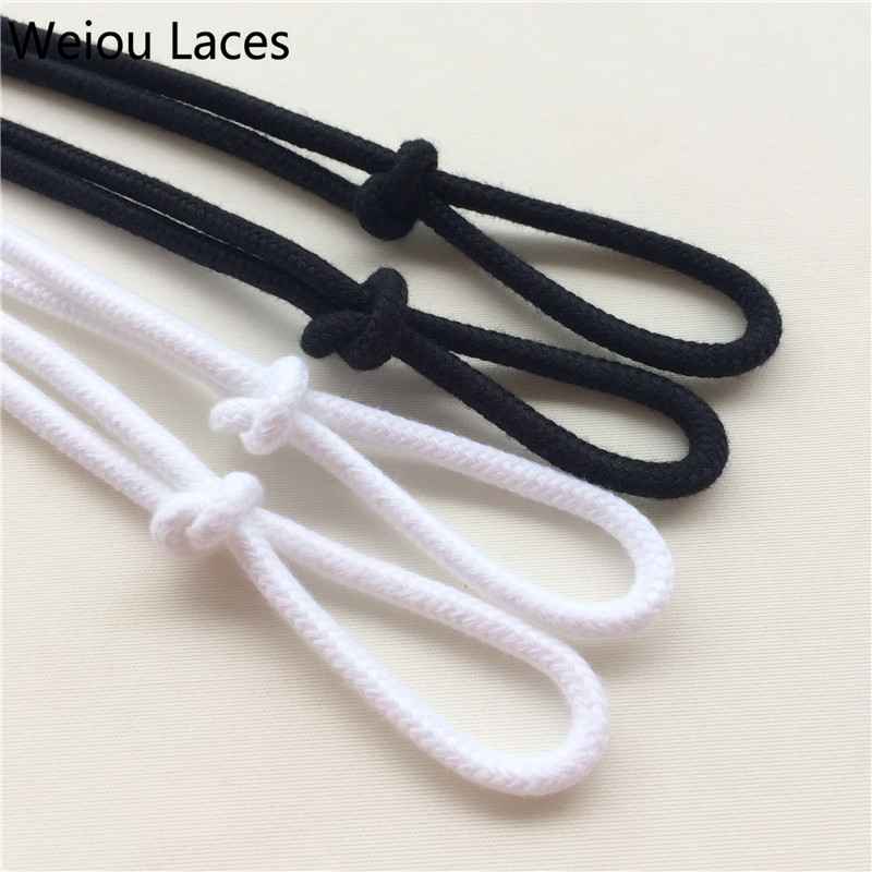 (30pairs/Lot) Weiou Round Colored Shoe Laces Fat Rope Shoes Strings White Shoelaces For Sneakers Basketball Shoes Free Shipping