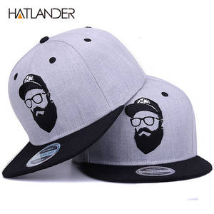 0acf0f25276e0  HATLANDER Original grey cool hip hop cap men women hats vintage embroidery  character baseball caps gorras planas bone snapback