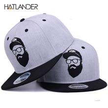 Hatlantider  gorra hip hop Original gris fresco hombres mujeres sombreros  vintage bordado personaje béisbol gorras planas hueso. 1550de7c8a4