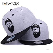 96db3bcde05  HATLANDER Original grey cool hip hop cap men women hats vintage embroidery  character baseball caps gorras planas bone snapback