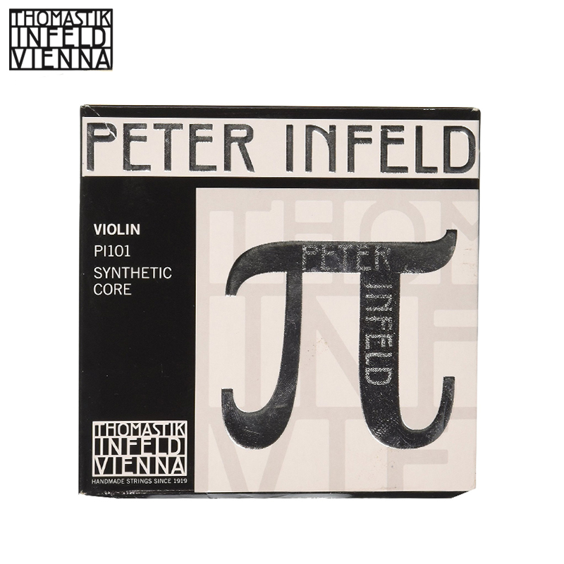 Thomastik Peter Infeld (PI101) Violin String Full set ,Tin Plated E--Silver D,Medium Gauge, Ball-End,Made in AustriaThomastik Peter Infeld (PI101) Violin String Full set ,Tin Plated E--Silver D,Medium Gauge, Ball-End,Made in Austria