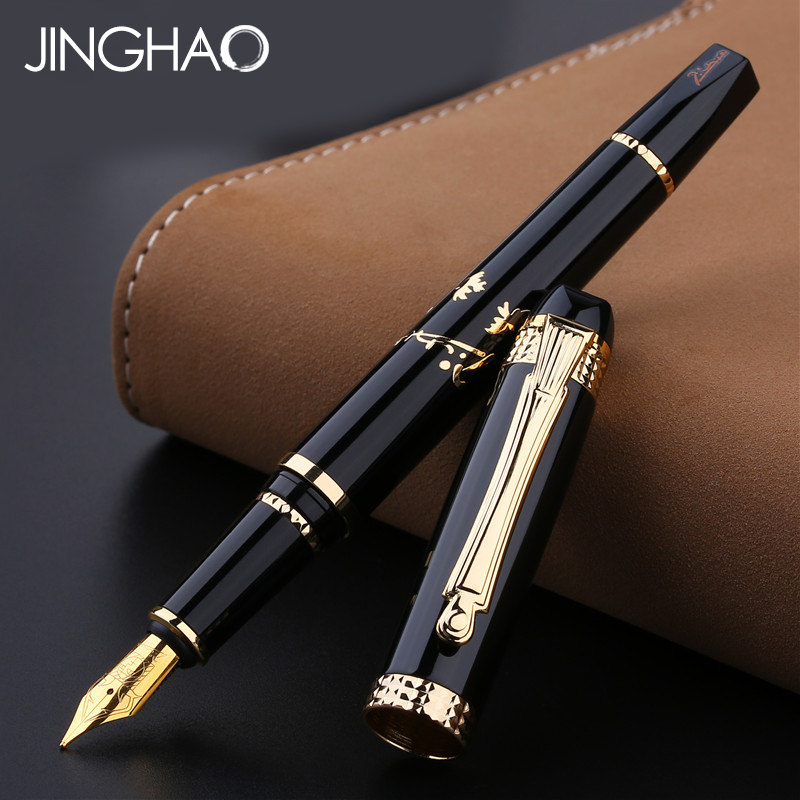 High-end Gift Writing Stationery Pimio 926 Fountain Pen Luxury Iraurita Nib 0.5mm Metal Ink Pens with an Original Gift Box 1pc luxury silver clip black or blue fountain pen high end pimio 912 iraurita ink gift writing pens with an original gift box
