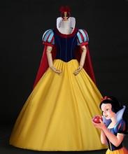 Snow White Costume Custom Made Adult Halloween Princess Snow White Headband Cloak Dress