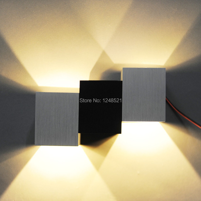 Ordinaire Hot Led Wall Lamp Aluminum 6w Led Bedroom Wall Light Modern Stair Hallway  Lighting AC85v