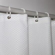UFRIDAY di Marca Bianco Cialda Bagno Impermeabile Tenda Della Doccia In Poliestere di Spessore per la Casa Albergo Decorativo Tenda della Vasca Da Bagno Vasca Da Bagno