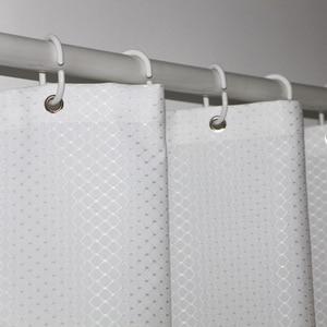 Image 1 - UFRIDAY ยี่ห้อวาฟเฟิลสีขาวผ้าม่านห้องน้ำกันน้ำโพลีเอสเตอร์หนาสำหรับโรงแรม Home ตกแต่งผ้าม่านอาบน้ำหน้าจอ