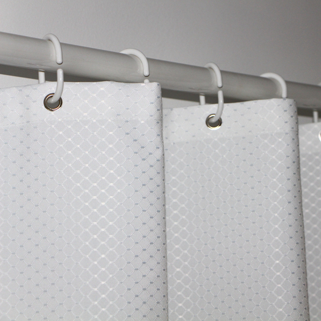 UFRIDAY ยี่ห้อวาฟเฟิลสีขาวผ้าม่านห้องน้ำกันน้ำโพลีเอสเตอร์หนาสำหรับโรงแรม Home ตกแต่งผ้าม่านอาบน้ำหน้าจอ