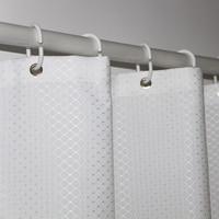Ufriday marca branco waffle banheiro cortina de chuveiro à prova dthick água poliéster grosso para casa do hotel cortina banho decorativa tela