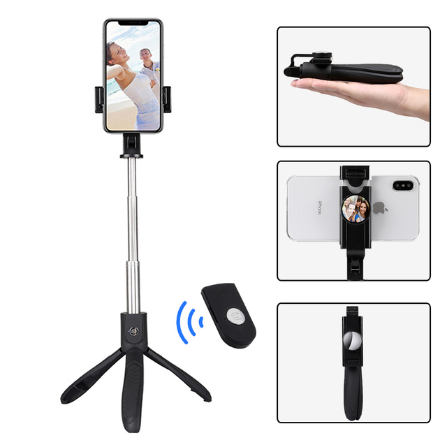 Mini Bluetooth Selfie Stick Wireless Tripod Handheld Monopod Stand for Phone Gopro Camera Studio Live Stream for Android IOS