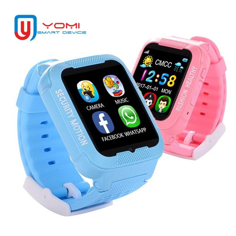 1.54 ''écran montre intelligente K3 étanche GPS Tracker SOS appel à distance moniteur Anti-perte Smartwatch avec lecteur de musique pour garçons filles