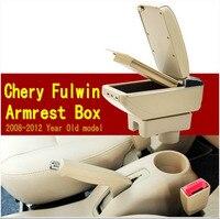 Car apoyabrazos central caja De Almacenamiento del contenido del Almacén con portavasos cenicero accesorios para A13 Muy Celer Chery fulwin 2 2008-2012