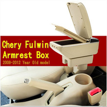 Car armrest central Store content Storage box with cup holder ashtray accessories for Chery A13 Very Celer fulwin 2 2008-2012