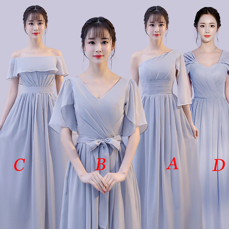 Mingli Tengda Chiffon V Neck Bridesmaid Dresses Elegant Long Dress For Wedding Party For Women Robe Demoiselle D'honneur