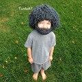 Newborn Photography Props Baby Hat Hand Knit Cartoon Costume Baby Boy Girl Cap Mohair Newborn