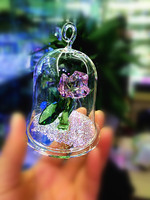 Kuvars Elmas kaplamalı Cam Kapak Içinde Düğün Masa Favor Kristal Gül Düğün Merkezinde Dekor Için Denizanası Paperweight