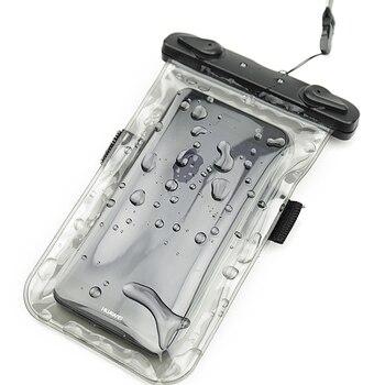 PVC Lumineux Étanche Couverture de Cas de Téléphone pour le Téléphone portable Mobile À Écran Tactile iphone 7 Preuve de L'eau Sous-Marine Sac Pochette Transparente