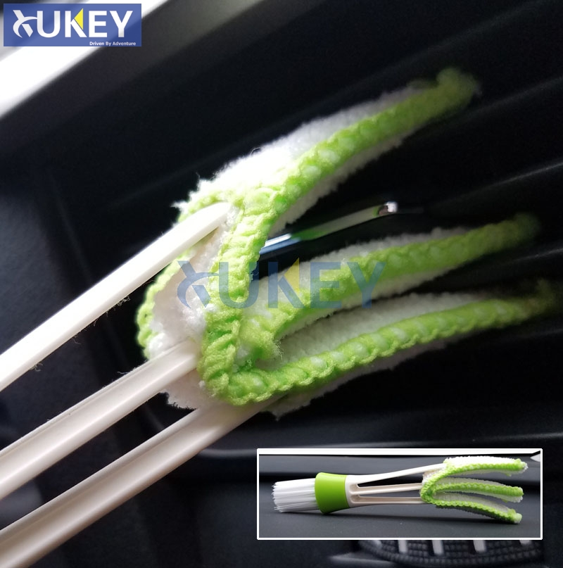 1pc Car Vehicle Air Vent Dash Detailing Interior Brush Auto Valeting Keyboard Dust Remover Window Blinds Cleaner Cleaning Tool