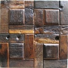 Azulejos decorativos de madera natural patrón aleatorio, textura de madera rústica pared de azulejos, pared de la cocina azulejos de madera envío gratis