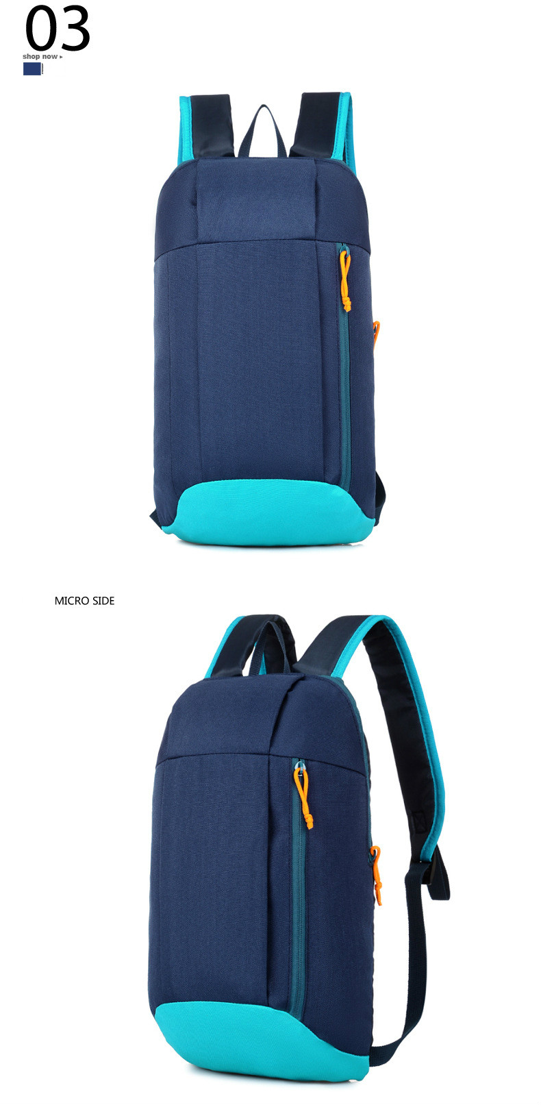 Waterproof S ports Backpack Out Door Luggage Shoulder Women Men School Bags Bagpack Mini Small Teenage Travel Rucksack 10