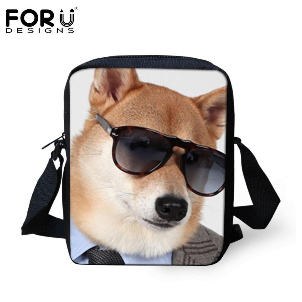 845652bf21e FORUDESIGNS Fashion Women Men Messenger Bag Cool Pet Dog Print Kindergarten Kids  Mini Crossbody Bag Baby Boys Girls Shoulder Bag