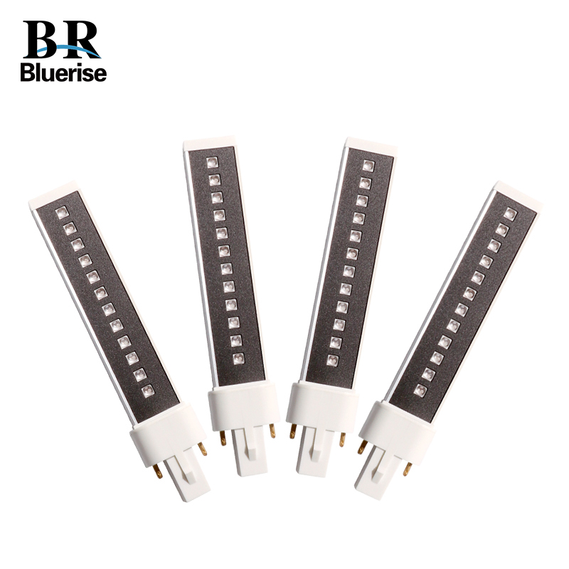 BLUERISE 4 Pieces 365+405nm 9W lamp Tube For UV Led Nail Lamp Replaced Leds Double light Source Bulb Led Lamp For Nails