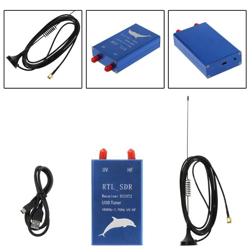 Récepteur de Tuner USB Radio RTL2832U + R820T2 100 KHz-1.7 GHz UHF VHF RTL. SDR AM FM
