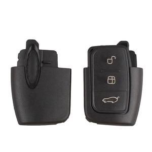 Image 2 - BHKEY llave de coche plegable con 3 botones, 433Mhz, para Ford 4D60 4D63, Chip para Ford Focus 2 3, Mondeo Fiesta, llavero Fob HU101 Blade