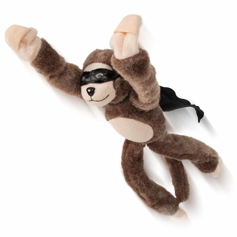 Divertente Volo Flingshot Fionda Scimmia Peluche Giocattoli Urlando Sorpresa Divertente Novità Gag Giocattolo 30S8209 trasporto di goccia