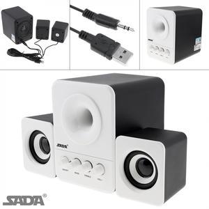 Image 1 - SADA D 203 filaire Mini basse canon 3 W PC combinaison haut parleur Mobile PC haut parleur avec 3.5mm prise stéréo et USB 2.1 filaire alimenté