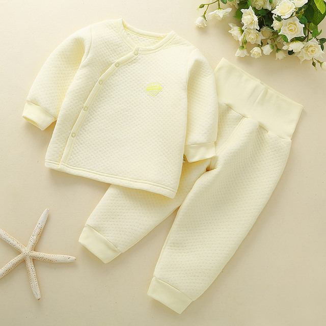 Thick Baby Boy Clothes Set Winter Baby Girl Clothing Set Baby Suit Top Pants Newborn Sleepwear Kit Child Clothes Pajamas Sets