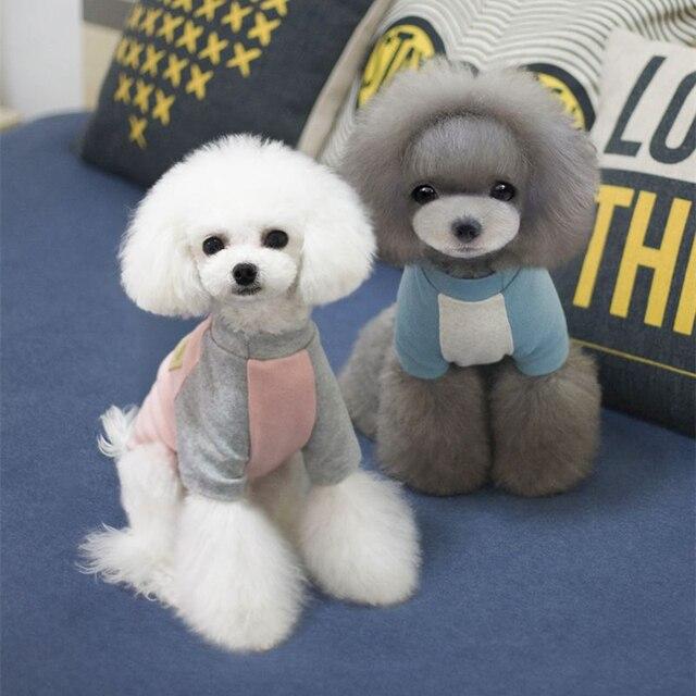 bdb2d5ddca11 Productos para mascotas accesorios ropa para perros Color puro manga larga  primavera ropa para cachorro gato