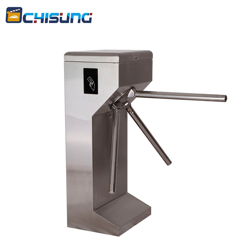 Waterproof 304 Stainless Steel RFID full and semi-automatic Vertical Pedestrian Tripod Turnstile with design High Intelligence rfid access control system electric semi automatic tripod turnstile for pedestrian office