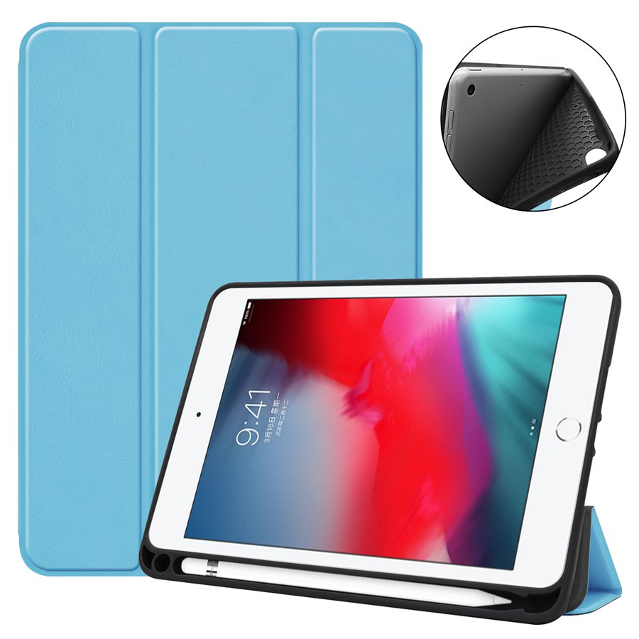 Smart Slim TPU Leather Case for New iPad mini 5 mini 5th 7.9 inch 2019 Funda With Pencil Holder cover for ipad mini 4 caseSmart Slim TPU Leather Case for New iPad mini 5 mini 5th 7.9 inch 2019 Funda With Pencil Holder cover for ipad mini 4 case