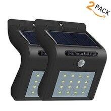 JXSFLYE Solar Lights 16 LED Wireless Waterproof Motion Sensor Outdoor Light for Patio, Deck, Yard, Garden (2PACKS)