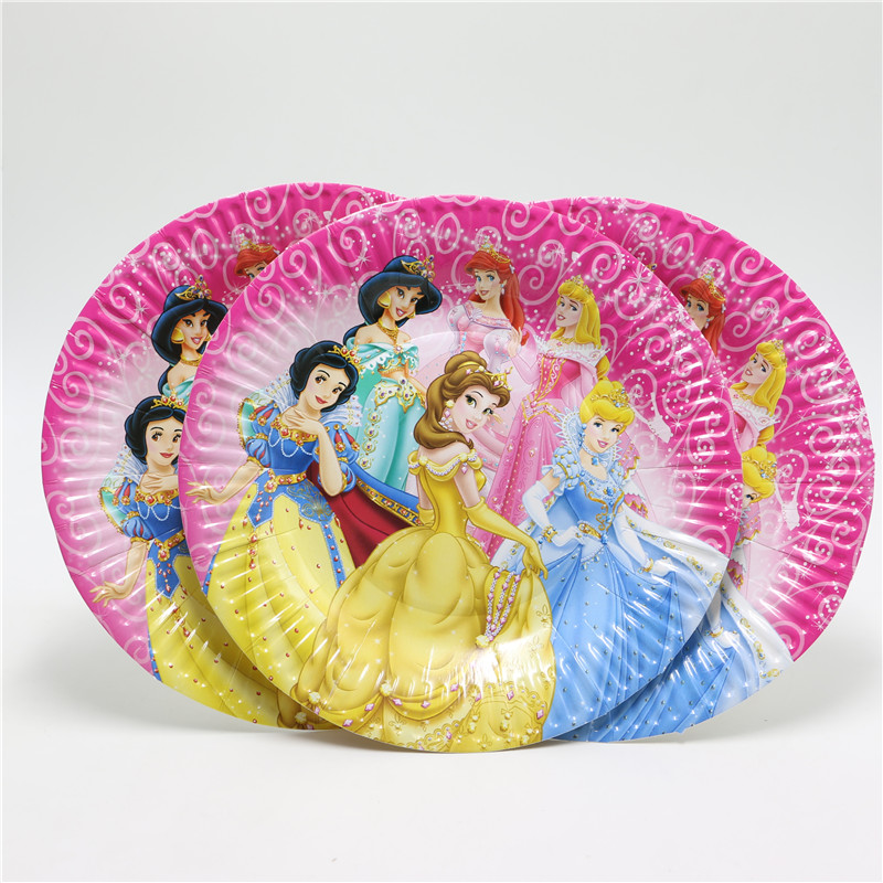 Lovely 10Pcs/lot 7 inch Cartoon princess Paper Plates for Valentine Birthday Wedding Nursery Party Tableware Party Supplies-in Disposable Party Tableware ... & Lovely 10Pcs/lot 7 inch Cartoon princess Paper Plates for Valentine ...