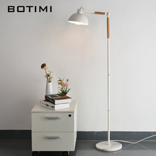 BOTIMI Nordic Floor Lamp For Living Room Bedside Lighting Lampadaire de salon European Wooden Standing Lights Simple Book Lamps