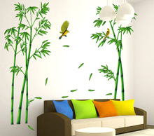 Dream home new bamboo forest depth three generations can remove bedroom living room decoration wall paste